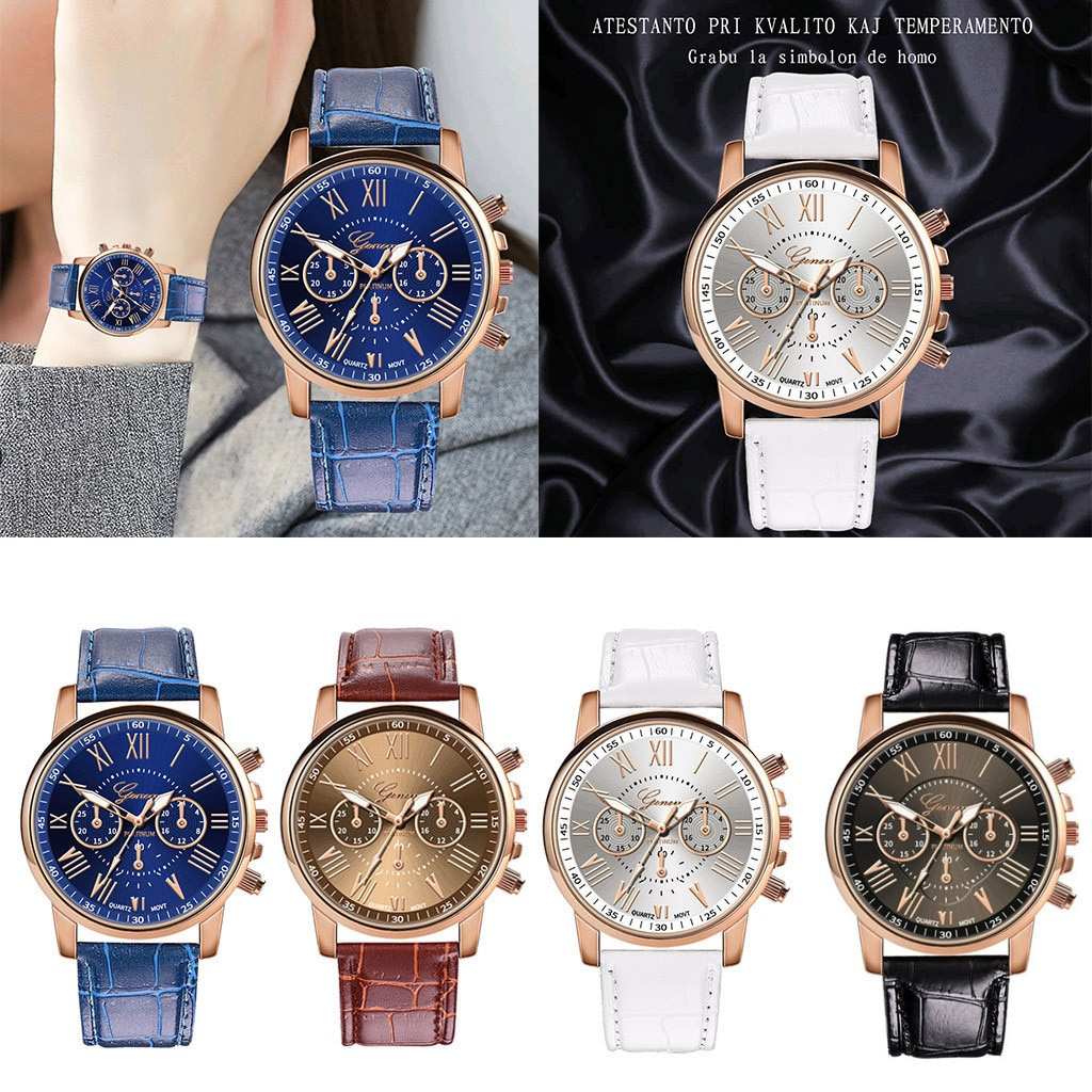 2020 News Wrist Watches Women Fashion Leather Band Quartz Analog Woman Stainless Steel Watch Montre