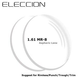 1.61 MR-8 High Quality Toughness Thinner Super Tough Prescription Lenses Aspheric Lens Suggest for Rimless Punch / Trough / Trim