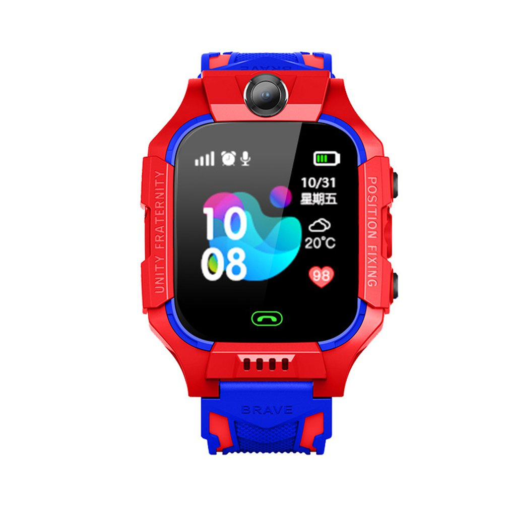 Kids Smart Watch Phone For Girls Boys With Gps Locator Pedometer Fitness Tracker Touch Camera Anti Lost Alarm Clock Q19