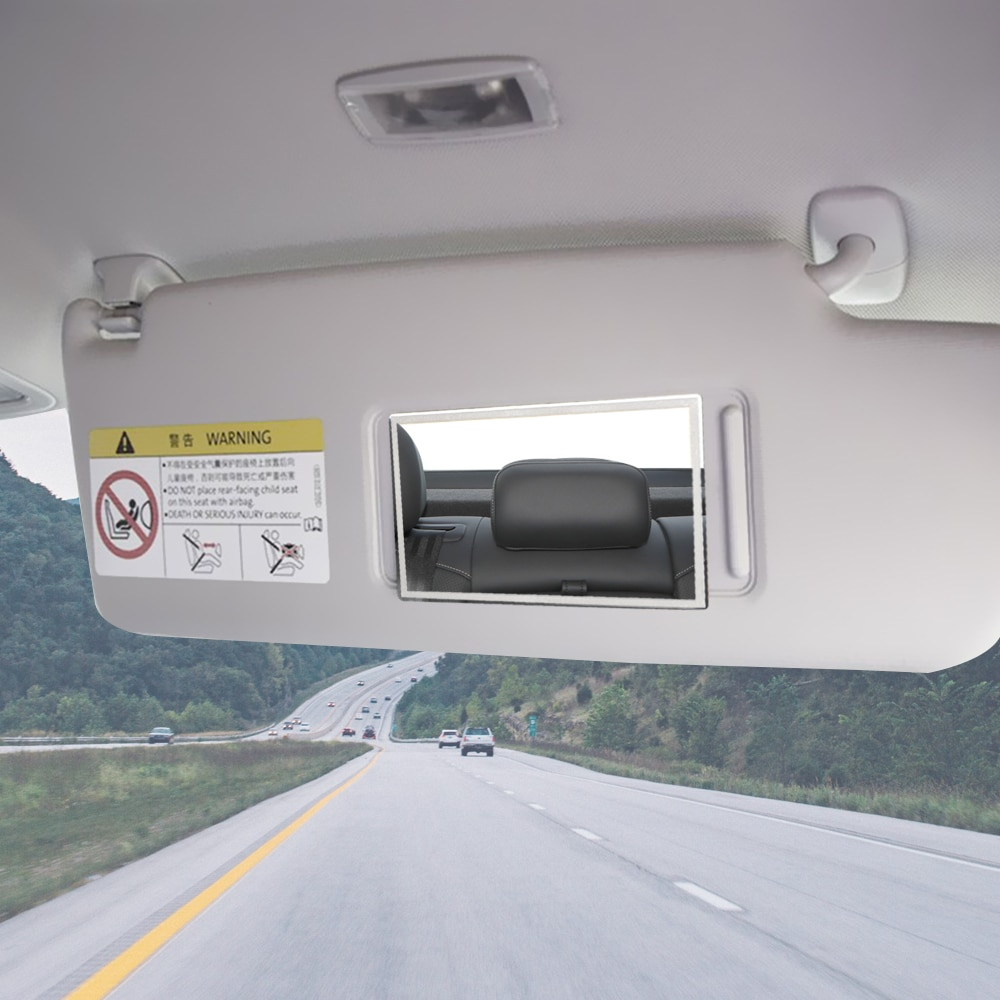 Универсальное Автомобильное Зеркало для салона 11*6,5 см, портативное автомобильное зеркало для макияжа, автомобильное солнцезащитное козыр...