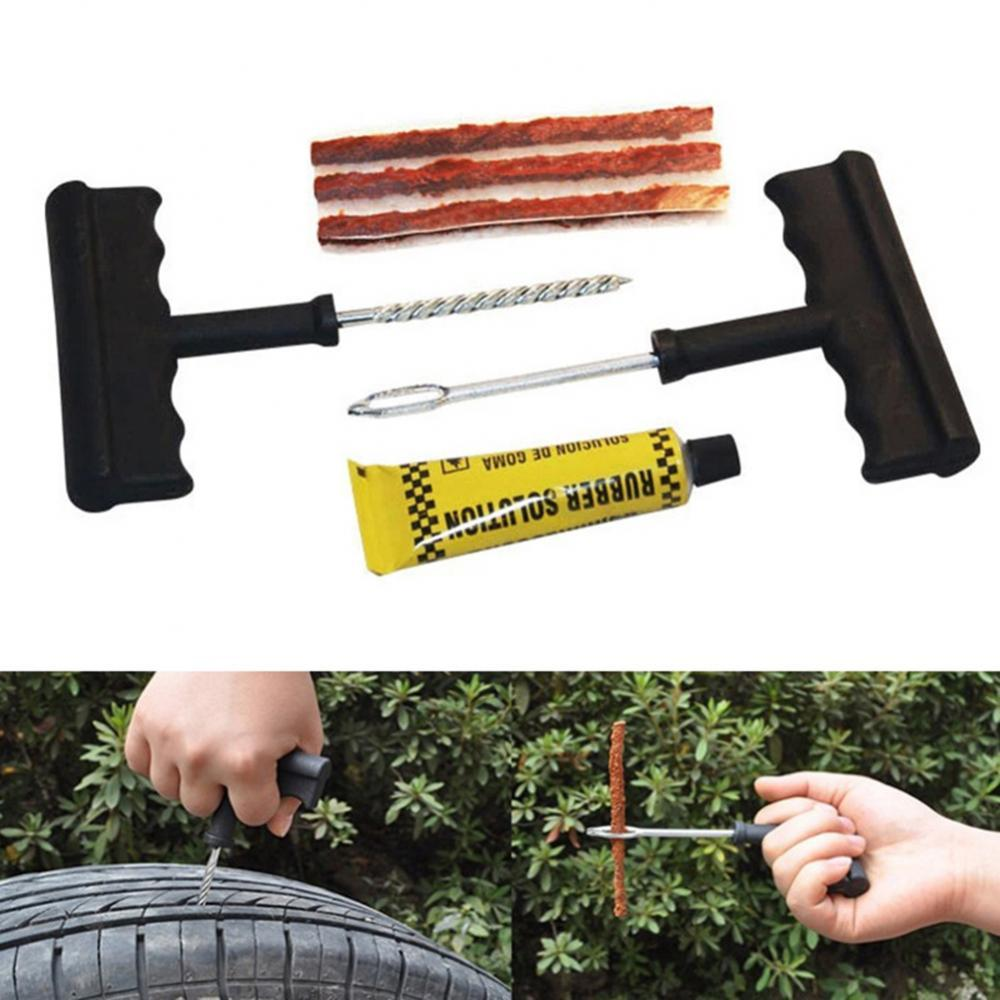 35% Hot Sales!!! 6Pcs Motorcycle Car Tire Repair Tool Tubeless Tyre Puncture Needle Patch Kit