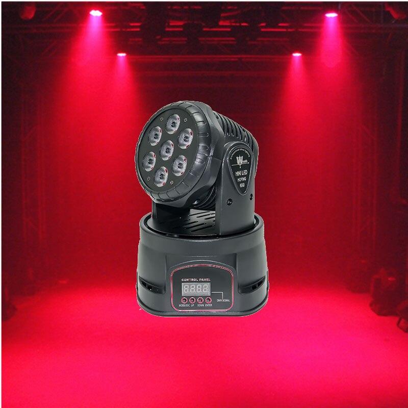 Novedad, iluminación con cabeza giratoria Wash 7x18W, 6 en 1 + UV RGBWA, DMX 12/16 canales, luz de escenario, fiesta de discoteca DJ
