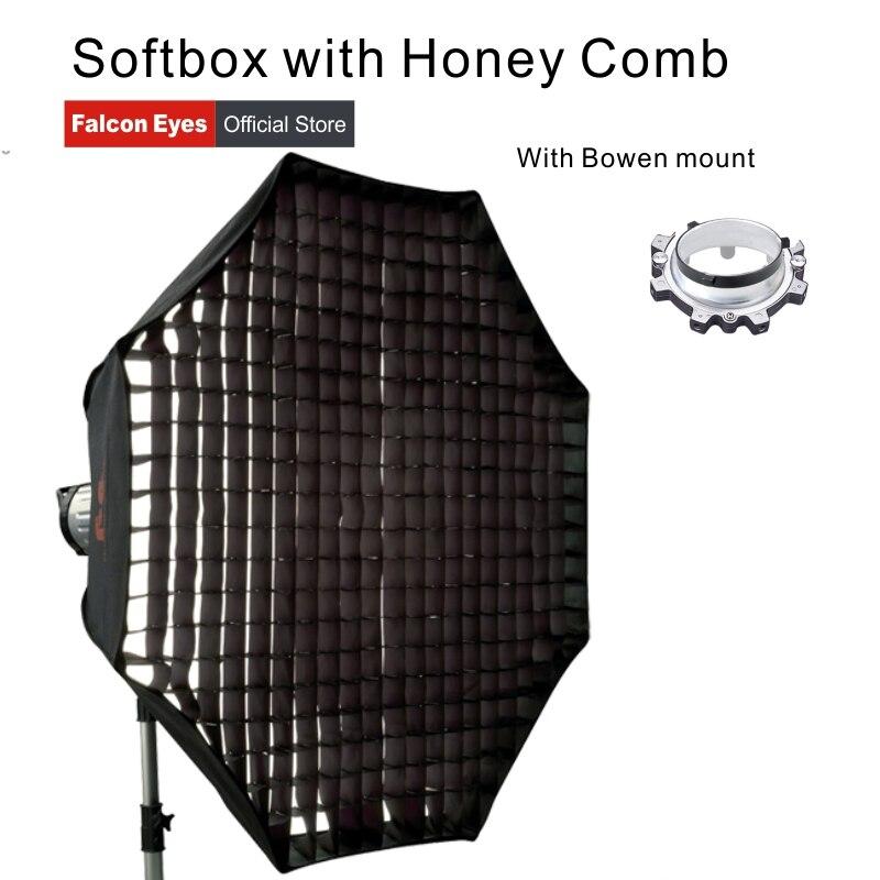 Ojos de halcón portátil plegable miel peine Softbox 60/80/90/110cm paraguas difusor Reflector para foto estudio Flash Speedlite