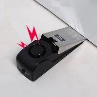 Mini alarme darret  120db  Vibration sans fil  pour porte  bouchon en forme de coin  systeme de securite  blocage