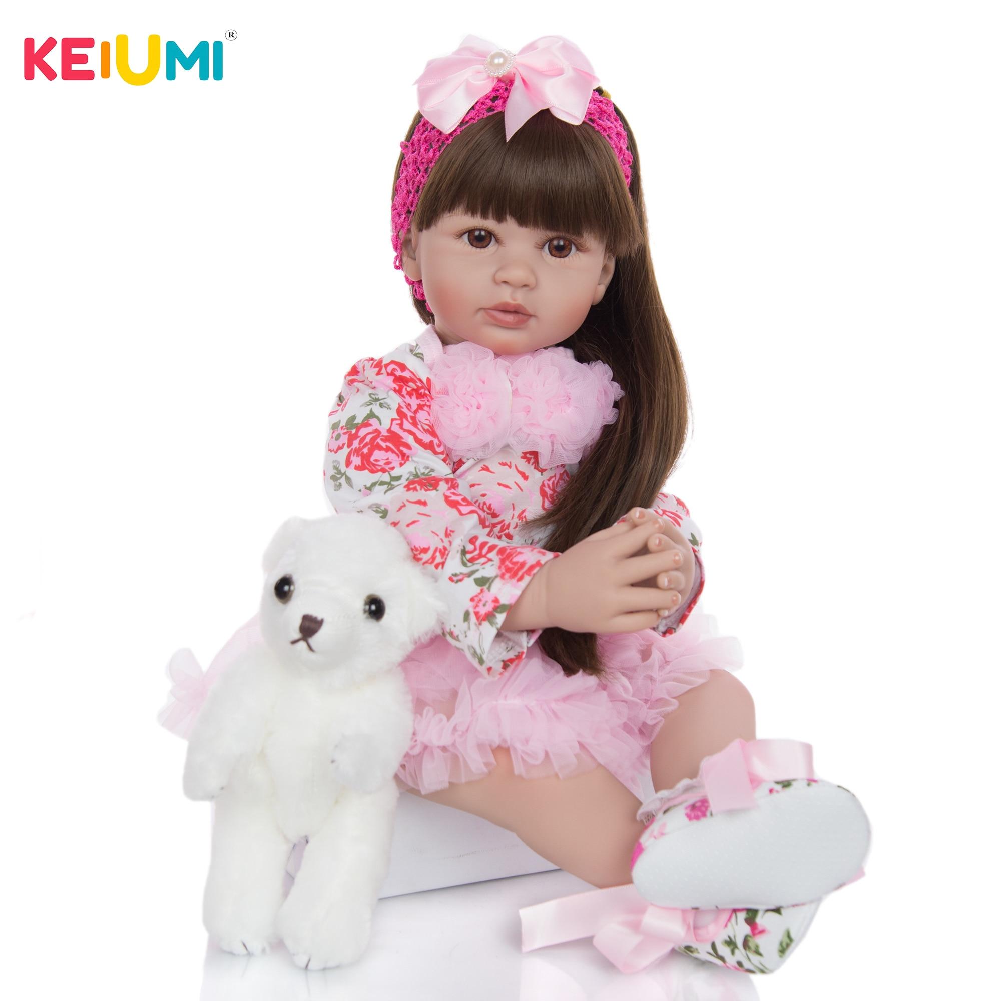 Muñecas de juguete Reborn de Vinilo Suave de silicona de 60 cm para niña muñeca de princesa exquisita juguete de bebé para regalo de cumpleaños infantil juguete para jugar a las casitas