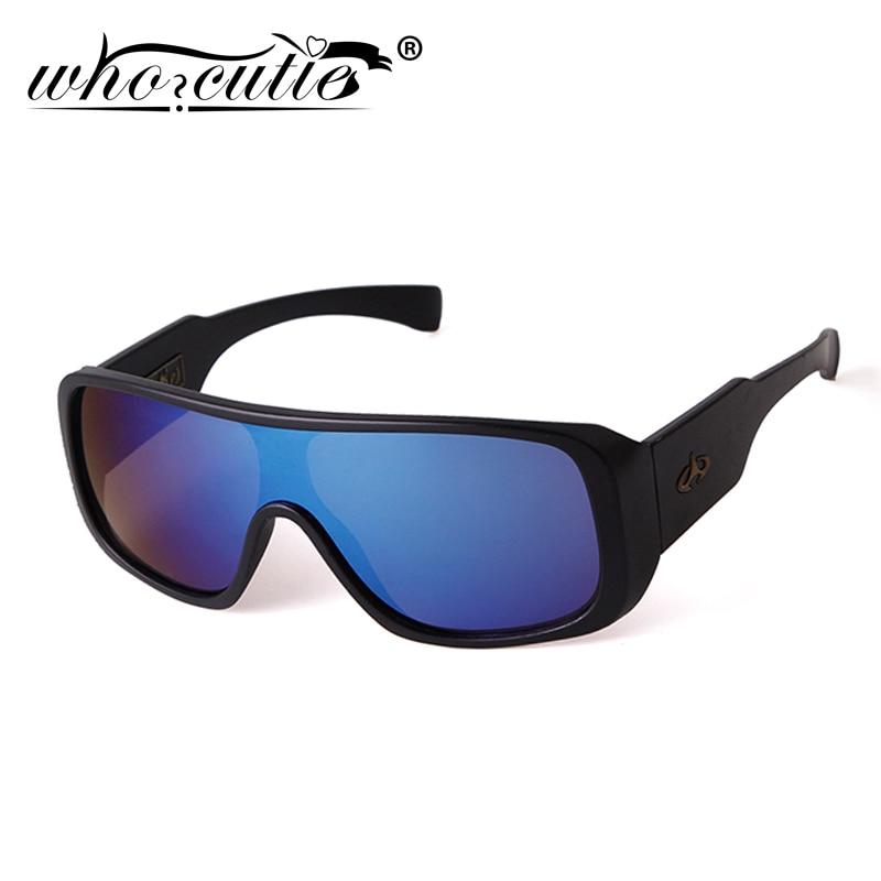 WHO CUTIE Shield Sunglasses Goggles Men Women Sport 2020 Brand Big Frame Mirror Lens Sun Glasses Mal