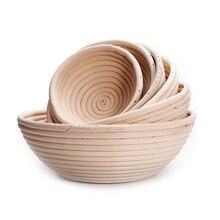 Panier à pain Banneton, panier en rotin naturel Brotform au levain pour la cuisson du pain-comprend un revêtement en tissu et un grattoir à pâte