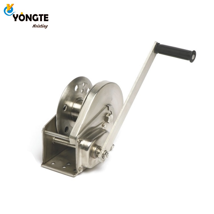 2600lb Hand stainless steel anchor drum winch enlarge