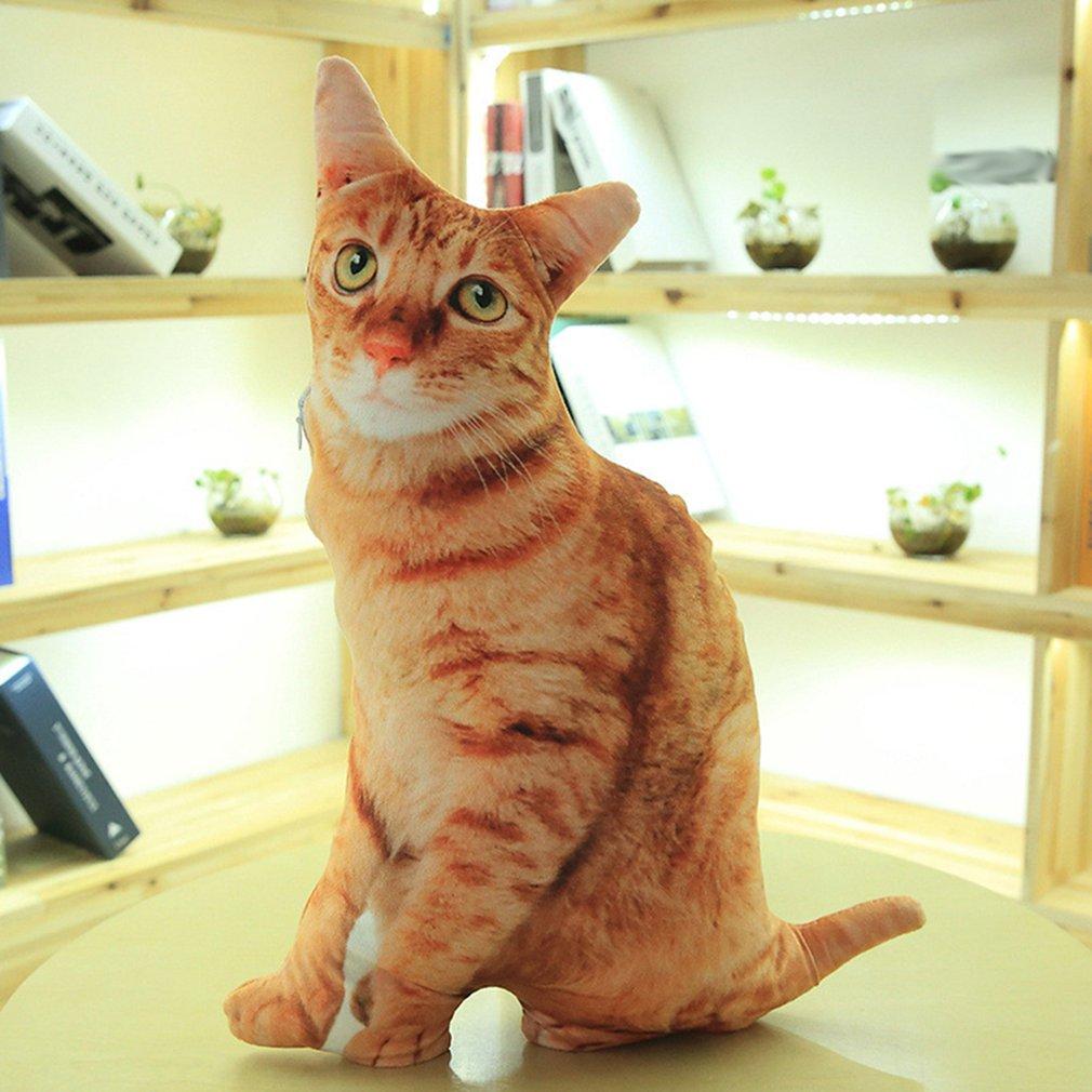 Имитация плюшевой кошки, подушки, милые мягкие животные, диванная подушка, Мультяшные игрушки для детей, подарок для детей, милые аксессуары...