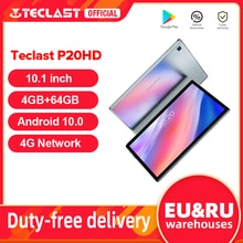 """Teclast P20HD 10.1 """"Tablet Android 10 1920x1200 SC9863A Octa Core 4GB RAM 64GB ROM 4G Network AI Speed-up Tablet PC Dual Wifi"""