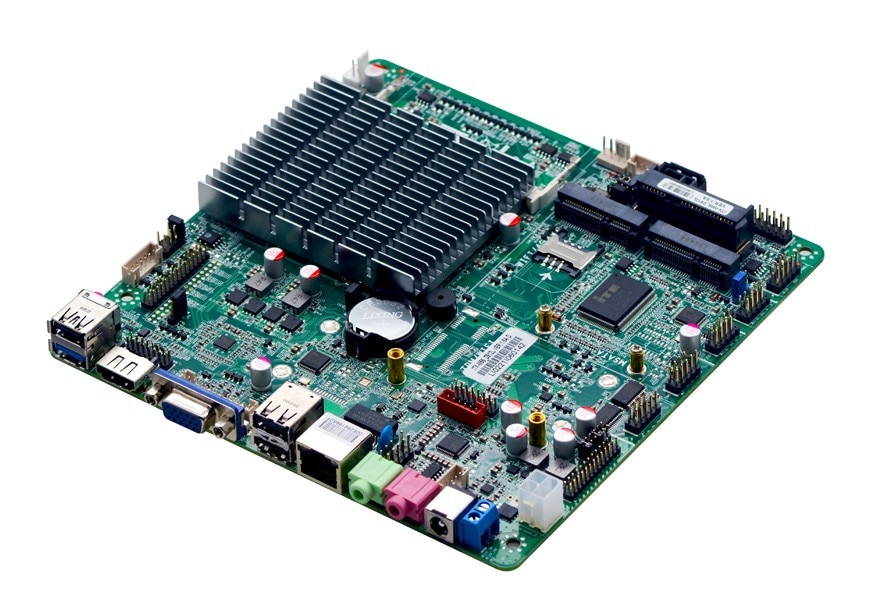 ITX-M56 Fanless AIO motherboard intel J1900 Bay Trail quad core Mini Itx Motherboard wifi /3g /2 * RS232 1000M LAN