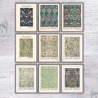william morris canvas print the victoria and albert museum exhibition poster london underground art nouveau painting wall decor