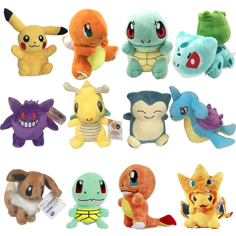 Takara Tomy Pokemon Плюшевые Charmander Popplio Litten Pikachu Rowlet Treecko Eevee Fennekin Greninja Аниме фигурки куклы игрушки