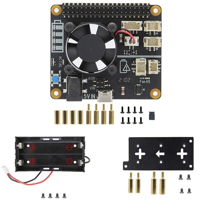 لراسبيري بي يو بي إس قبعة X708 ، لراسبيري بي 4B/3B +/3B X708 V1.2 (ماكس 5.1 فولت 8A) UPS قبعة ولوحة إدارة الطاقة
