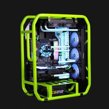 ATX EATX PC Case Desktop Desk Box Water Cooling for Computer Gamer Vertical Enclosure CPU Drive Bay Transparent Motherboard