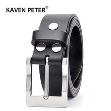 Luxury Male Genuine Leather Belt Classic Black Solid Strap Business Cowboy High Quality Men Leather