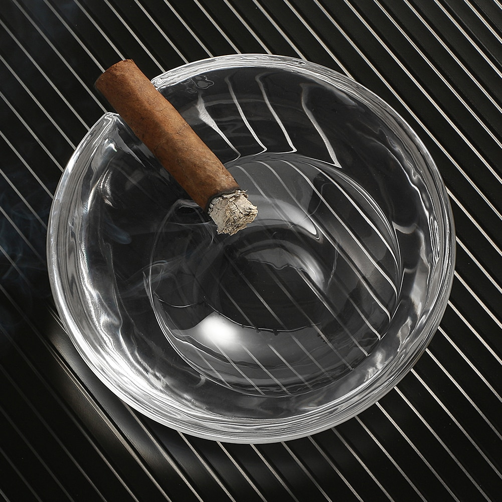GALINER Crystal Ashtray Office Cigar Smoke Ashtray Outdoor New Portable Home Tobacco Ash Tray Holder Table Accessories enlarge