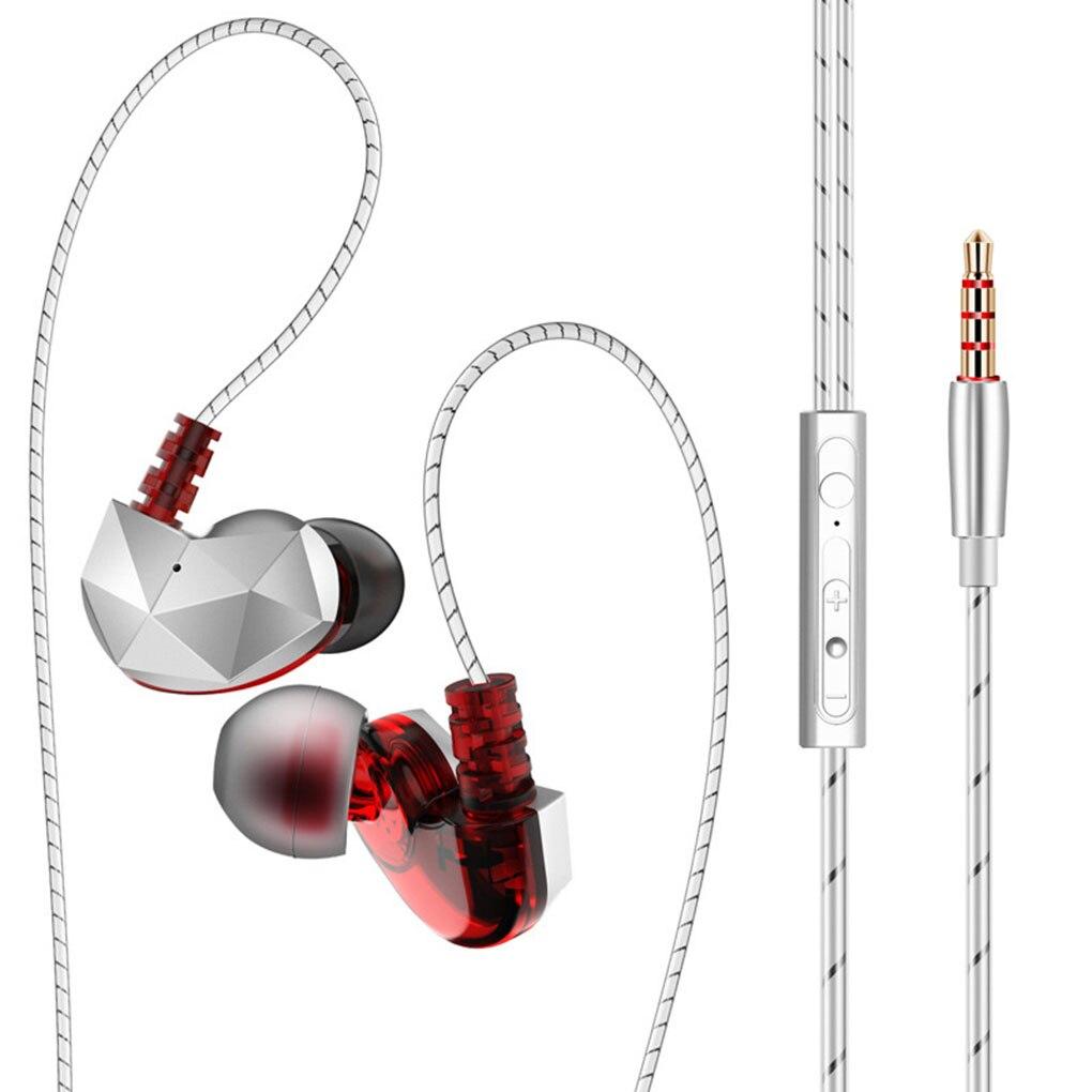 In-ear fone de ouvido estéreo esporte fone de ouvido 3.5mm universal redução de ruído alta fidelidade com fio telefone música fones de ouvido com microfone