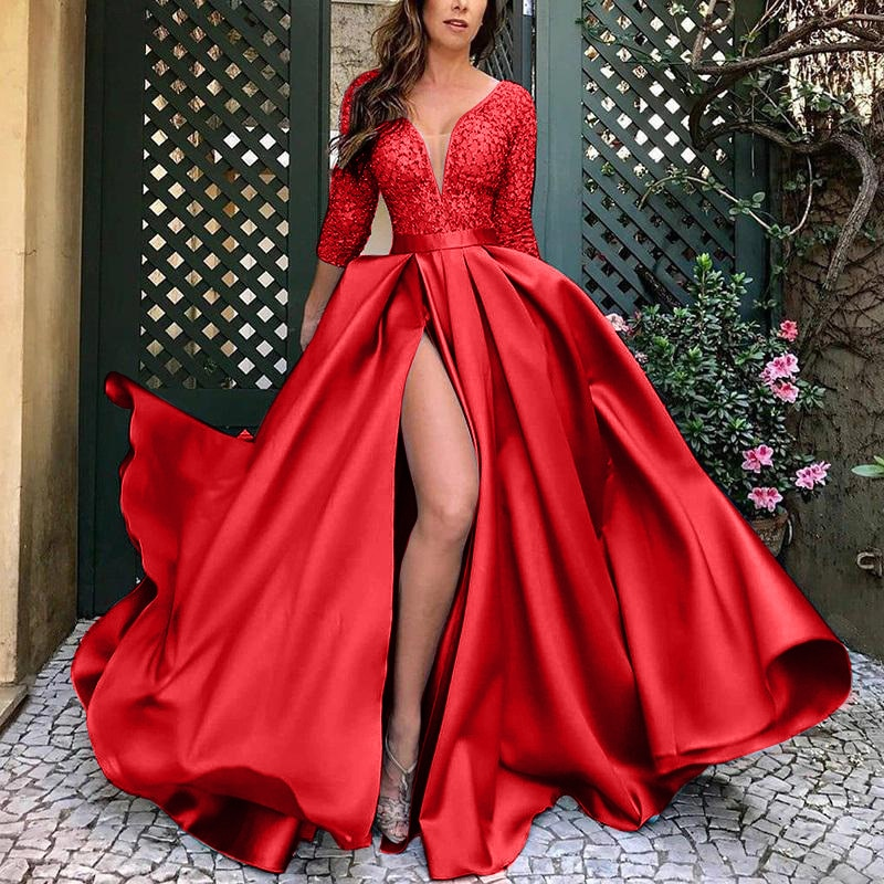 Womens Fashion Maxi Long Dresses Beach Split Wedding Multiway Bridesmaids Party Prom Robe Longue Femme Evening Dress