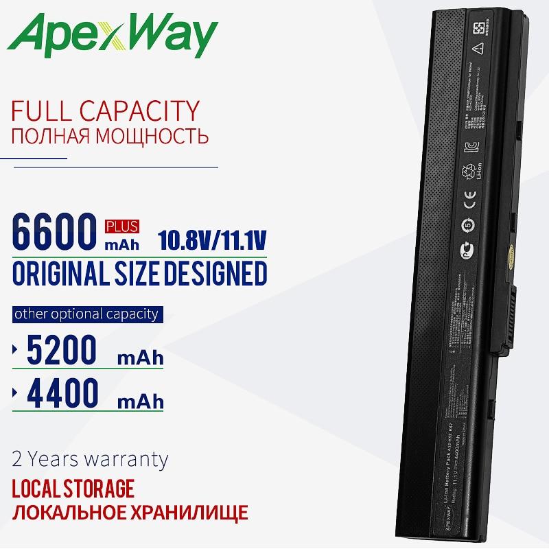 11,1 V batería de portátil para Asus A32-K52 A31-K52 K52F A52F A52J K52 K52D K52JC K52JE X52JC X52JE X52JG X52F X52J K52J