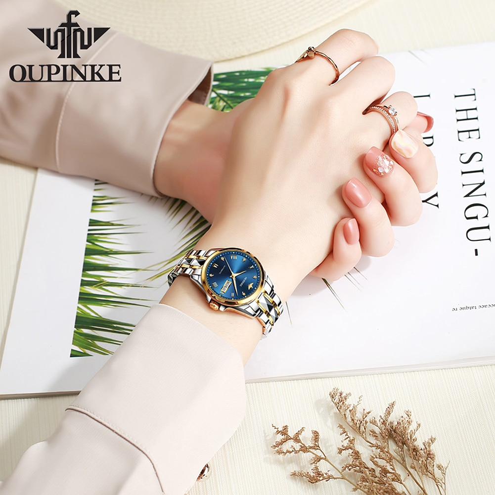 OUPINKE New Fashion watches for women Luxury Automatic Mechanical Wristwatch Valentine's Gifts Bracelet watch Montre femme enlarge