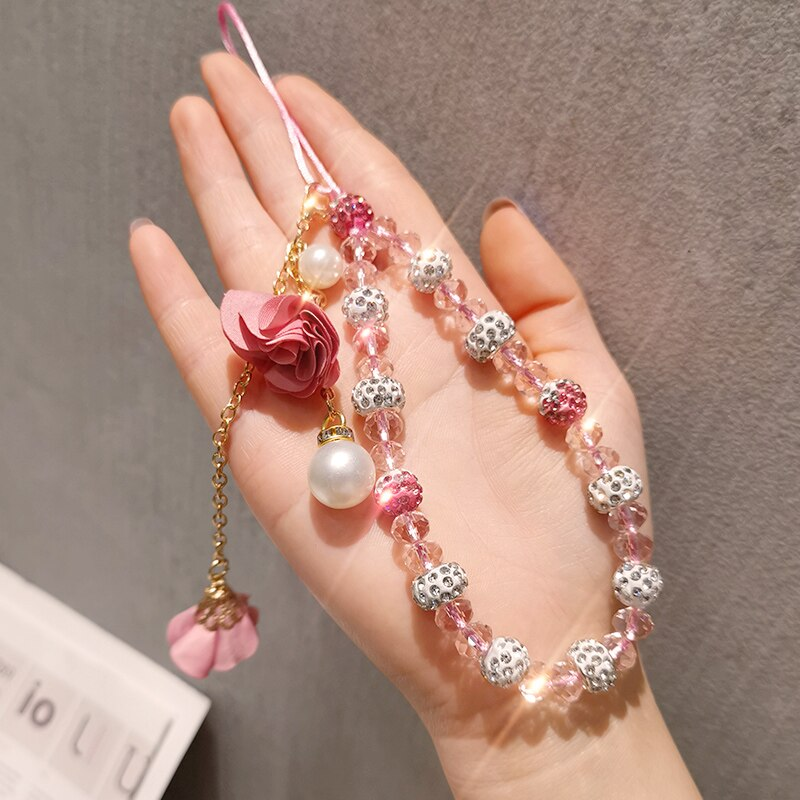 Mobile Phone Straps Mobile phone ornaments Mobile phone accessories Anti-lost lanyard Flowers Pendant