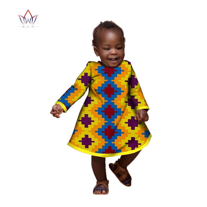 Vestido de manga larga para fiesta de niñas. Dashiki ropa tradicional africana WYT127