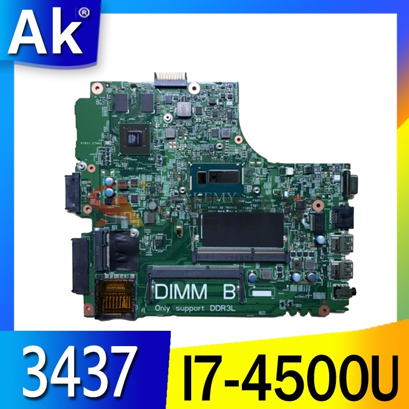 العلامة التجارية الجديدة لديل انسبايرون 3437 5437 اللوحة الأم للكمبيوتر المحمول I7-4500U GT720M/2G CN-0YFVC4 12314-1 DOE40-HSW PWB:VF0MH REV:A00