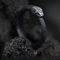 2021 fashion trend womens rings black retro gothic snake ring engagement rings mens accessories jewelry gifts