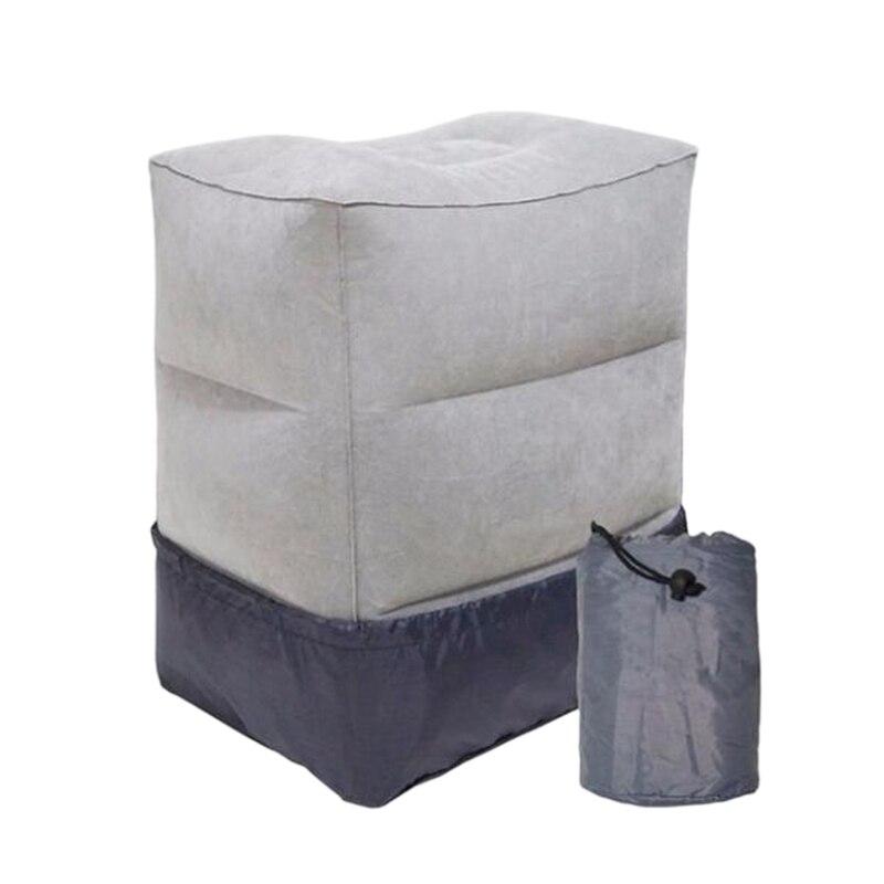 Almohada de HHO-3 portátil inflable de capas de Reposapiés de viaje almohadilla de descanso de pies de cama de tren de avión para niños