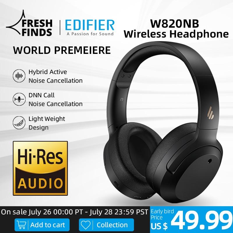 EDIFIER-auriculares inalámbricos W820NB ANC con Bluetooth 5,0, dispositivo de Audio de alta...