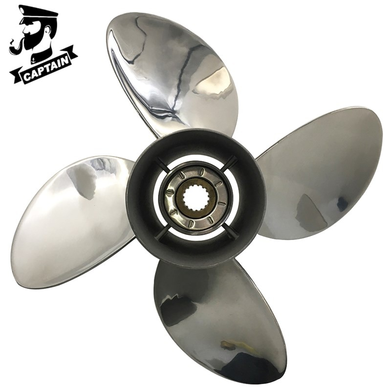 Фото - Captain Propeller 4 Blade 13X19 Fit Suzuki Outboard Engines DF70A DF80A DF90 DF100 Stainless Steel 15 Tooth Spline RH captain propeller 13 1 2x15 fit suzuki outboard engine df70a df80a df90 df100 df115 df140 15 tooth spline 4 blade