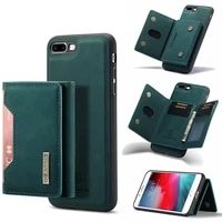 luxury leather case for iphone 7 8 7p 8p se 2020 case wallet phone credit card protective shockproof flip stand full cover