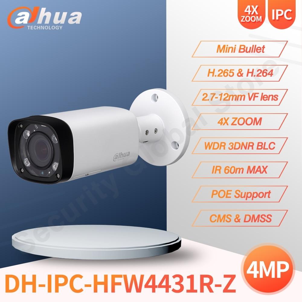Cámara IP Dahua IPC-HFW4431R-Z HD 4MP red Bullet Camara IR 60M 2,7-12mm...