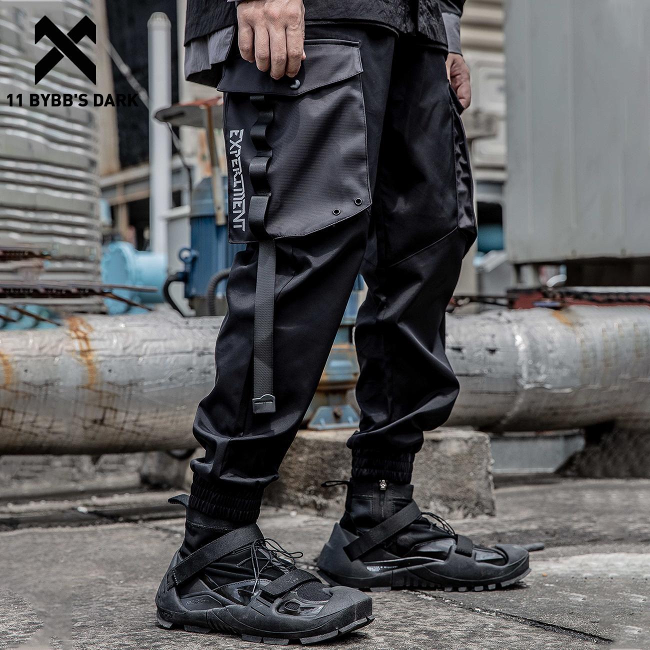 11 BYBB'S الظلام الهيب هوب السراويل البضائع الرجال 2021 وظيفية فضفاضة عداء ببطء الرجال السراويل الشارع الشهير Techwear شرائط جيوب السراويل فضفاضة