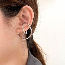 FFLACEL 2020 nouveau Design coréen tendance Simple oreille pince Chic irrégulière géométrique distorsion courbe pince boucles doreilles pour les femmes filles