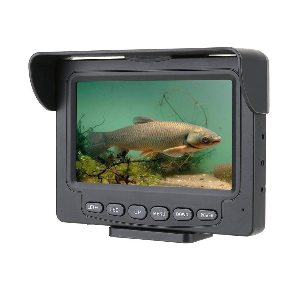 30M 1200TVL Fish Finder Underwater Fishing Camera 4.3 inch IPS Monitor 10PCS LED Night Vision 195 Degrees Metal Sea wheel Camera enlarge