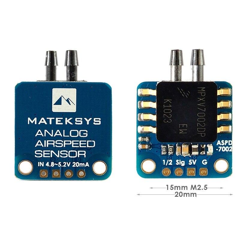 Matek ASPD-7002 analogowy czujnik prędkości dla RC FPV Racing Freestyle F405-WING/F405-CTR/F405-STD/F722-STD/F722-WING/F765-WING