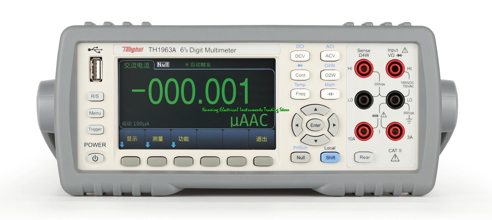 Цифровой мультиметр TONGHUI TH1963A, 6 1/2 цифр, максимальный 1200000 показаний; ЖК-дисплей; Экономичный Тип с тестом емкости