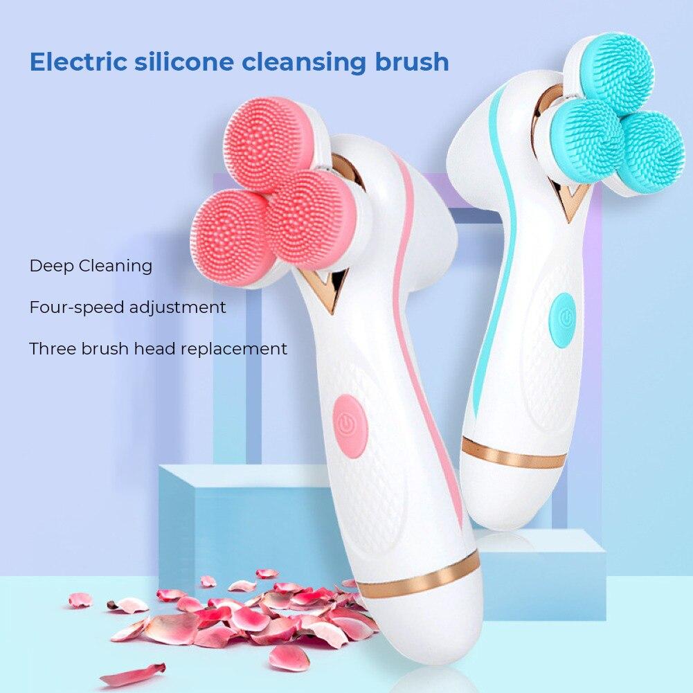 غسل فرشاة ماكياج مزيل منظف للوجه تدليك الوجه معدات التجميل الكهربائية سيليكون منظف للوجه