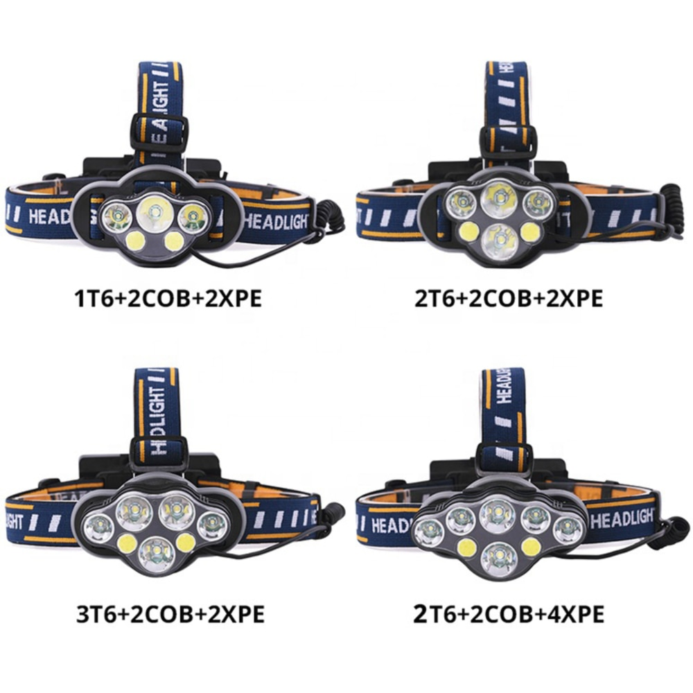 T6 8 Light Mode Headlamp Flashlight USB Rechargeable Headlight Ultra Bright 12000 Lumens Sensor Headlamp for Camping Fishing enlarge