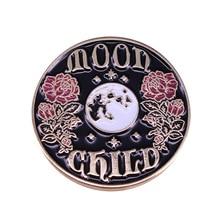 P5550 Dongmanli Moon Girl Flowers Hard Enamel Pins Women Men Badge Backpack Collar Lapel Fashion Jew