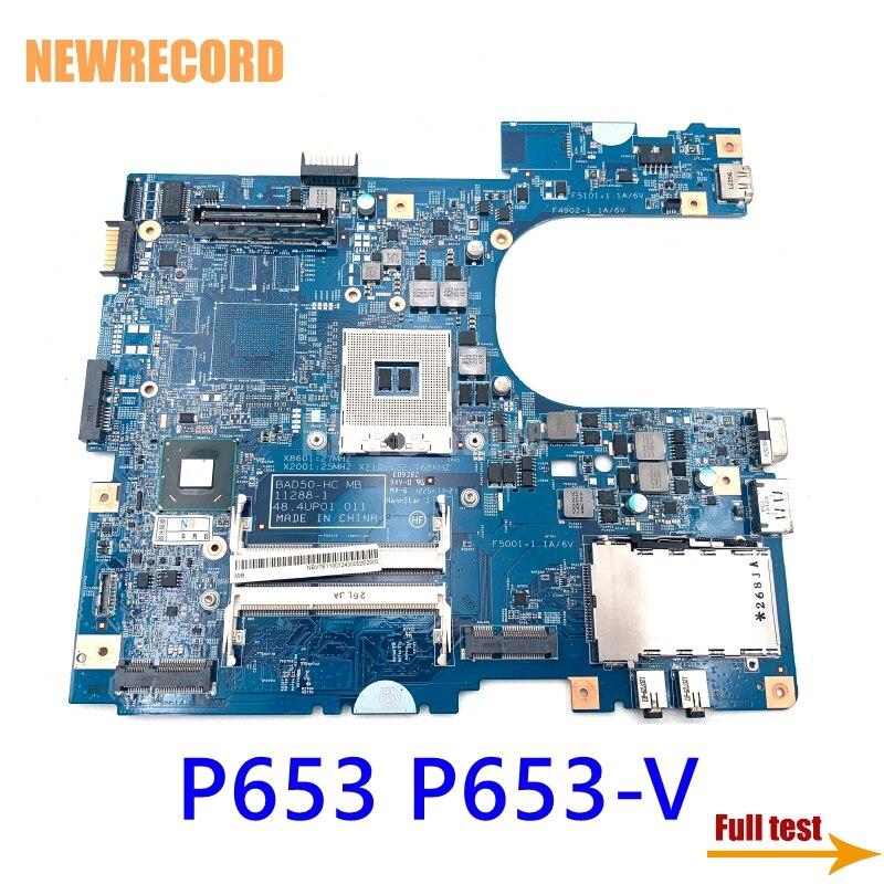 نيوسجل 48.4UP01.011 NBV7G11001 NB.V7G11.001 اللوحة الرئيسية لشركة أيسر ترافيلميت P653 P653-V اللوحة الأم للكمبيوتر المحمول QM77 DDR3 اختبار كامل