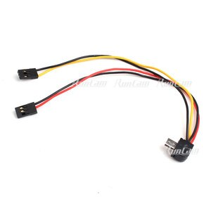 Original Runcam TV-Out and Power Cable for RunCam 2/RunCam 3/RunCam Split/RunCam 5/RunCam2 4K Cameras FPV Racing Freestyle