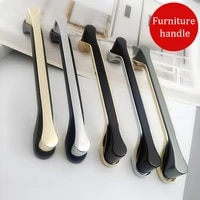 modern and simple black and gold two piece zinc alloy handle bathroom cabinet drawer cabinet door handle hardware handle