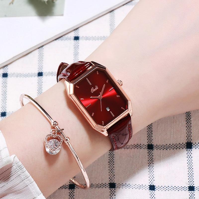 YUNAO Live Explosion Style Fashion Ladies Watch Trend Simple Casual Belt Calendar Women's Quartz Waterproof Watch 2021 New enlarge