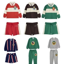 Kids Clothes Sets 2020 Mini Brand New Spring Summer Boys Girls Panda Print Sweaters + Pant 2pcs Clothing Baby Children Cotton