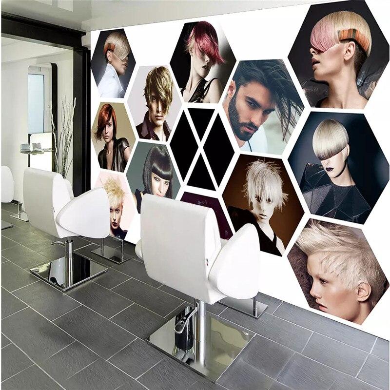 Papel De pared De peluquería moderno y a la moda, Papel tapiz 3D para salón De belleza, Papel tapiz para pared, Mural para barbería, decoración Industrial, Papel De pared 3D