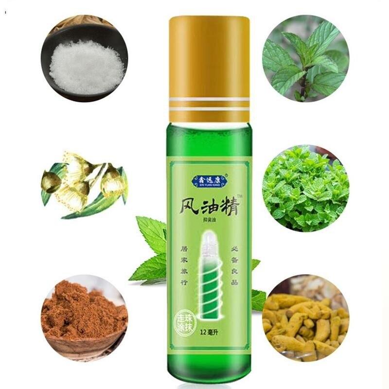 Bálsamo de 12ml, aceite Natural refrescante, Medicinal para dolor de cabeza, aceite de mareo, dolor de reuma Abdominal, Fengyoujing