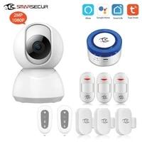 SMARSECUR     sirene dalarme de securite wifi  systeme anti-cambriolage  Smart Life  Tuya avec Alexa Google Home